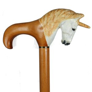 Unique custom hand carved wood walking stick, walking cane and